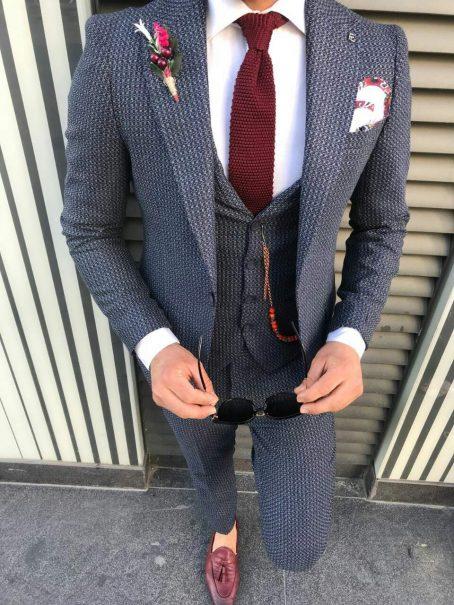 Серый гранит мужской костюм