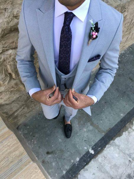 Бирюзовый мужской костюм