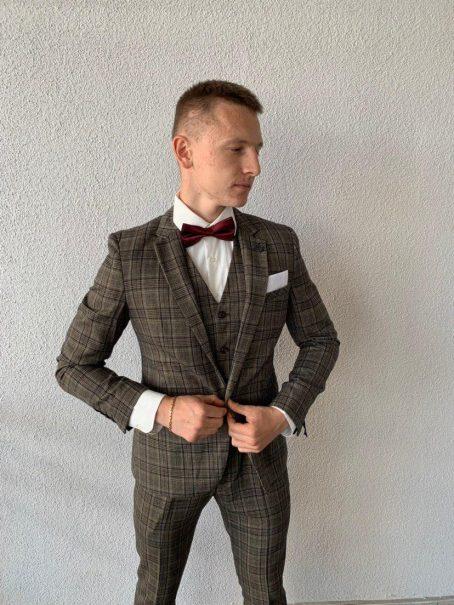 Мужской костюм-тройка из твида